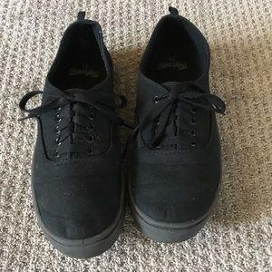 Black canvas sneakers men's size 10